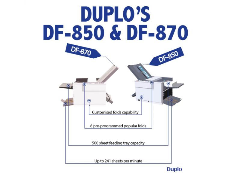 The Fastest Table-Top Folders from Duplo – DF-850 and DF-870