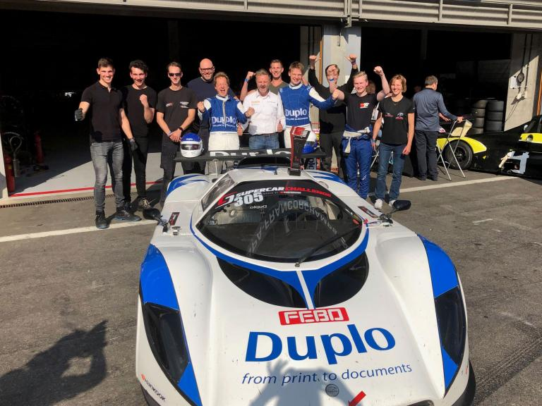 "Duplo's first racing win! ""Realising a boyhood dream of winning a car race. Dreams do come true"""