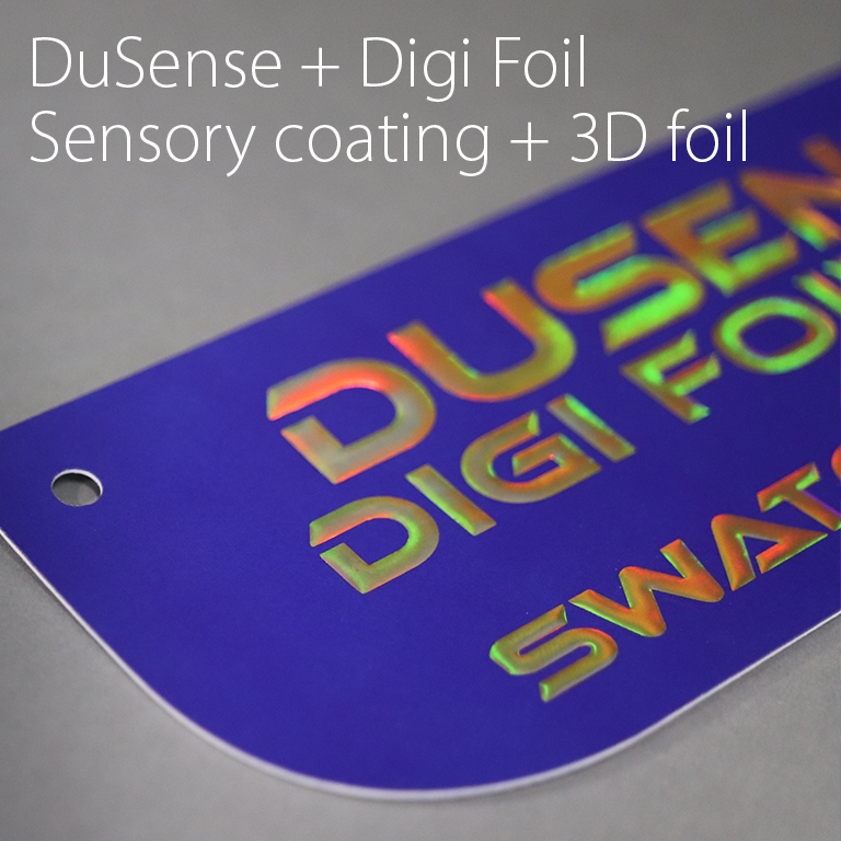 DuSense + Digi Foil Sensory coating and 3D foiling
