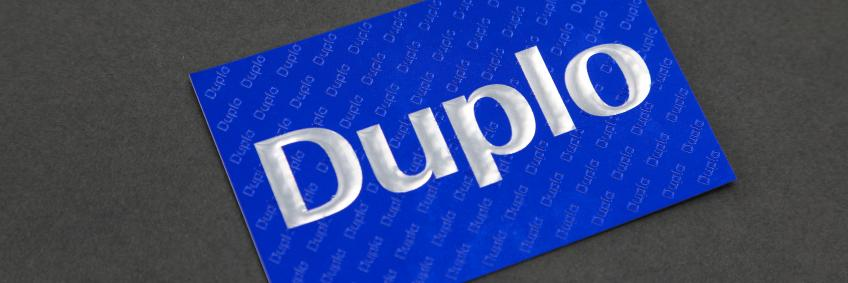Duplo business card